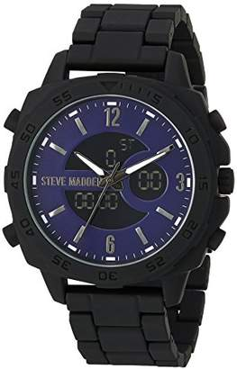 Steve Madden Men's Quartz Resin and Alloy Fashion Watch