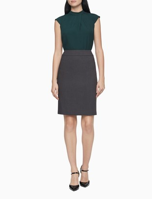 Calvin Klein charcoal pencil suit skirt