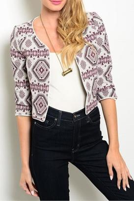Ina Monica Cropped Jacket $27 thestylecure.com