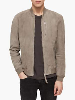 Kemble Suede Slim Fit Bomber Jacket