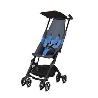 Kurt Geiger gb Gold Pockit Air All Terrain Ultra Compact Pushchair, Cabin Luggage Compliant, From 6 Months to 17 approx. 4 Years), Night Blue