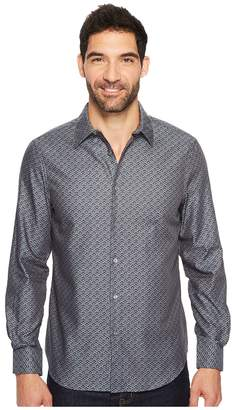 Perry Ellis Long Sleeve Wave Printed Shirt Men's Long Sleeve Button Up