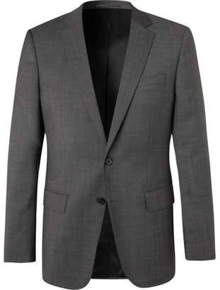 HUGO BOSS Grey Huge/genius Nailhead Virgin Wool Suit Jacket - Gray