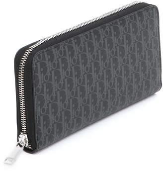 Christian Dior Logo Print Zip Around Wallet