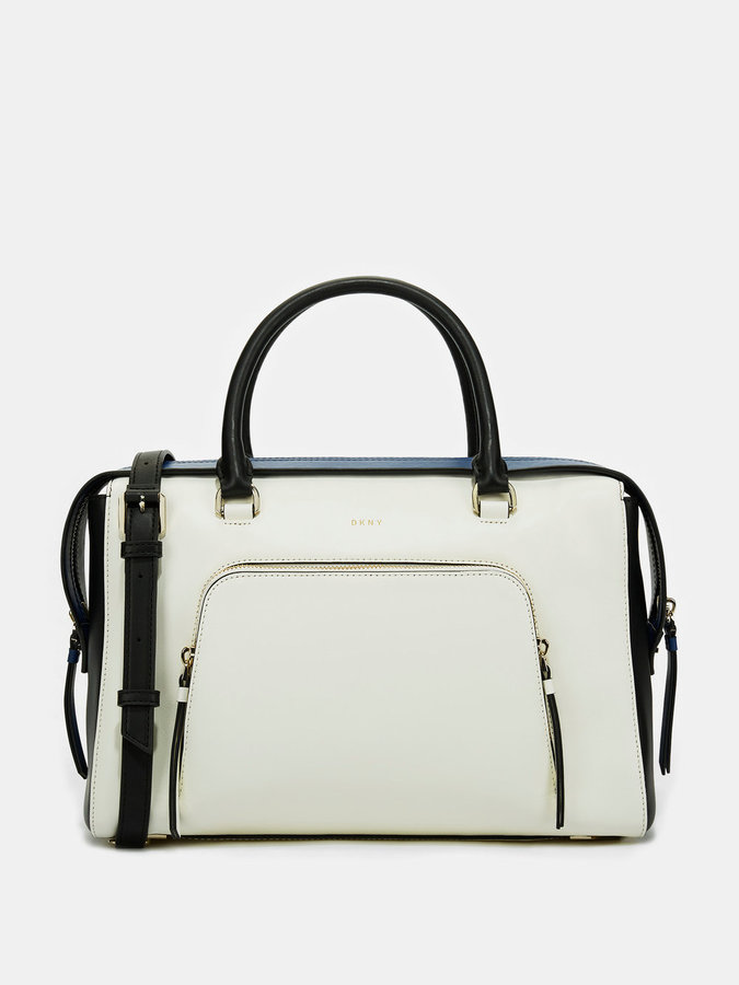 DKNY Greenwich Smooth Leather Large Satchel