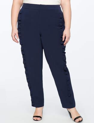 ELOQUII Ruffle Detail Trouser