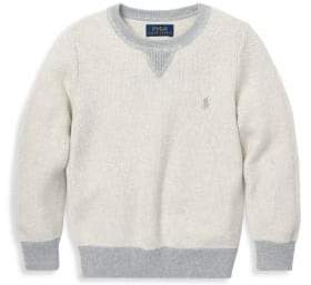 Ralph Lauren Boy's Textured Knit Crewneck Sweater