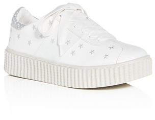 Dolce Vita Dolce Vida Girls' Cadin Star-Embroidered Lace-Up Platform Sneakers - Little Kid, Big Kid