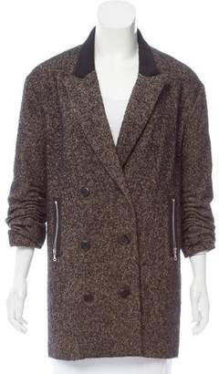 Alexander Wang Short Herringbone Patterned Coat