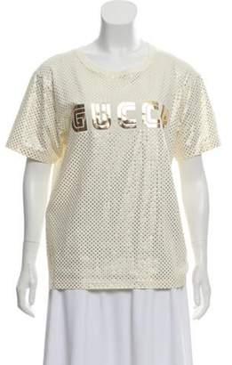 Gucci 2018 'Guccy' T-Shirt gold 2018 'Guccy' T-Shirt