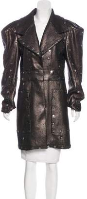 Viktor & Rolf Embellished Metallic Coat