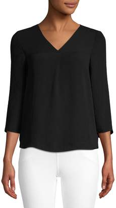 Lord & Taylor Petite Maddy V-Neck Blouse