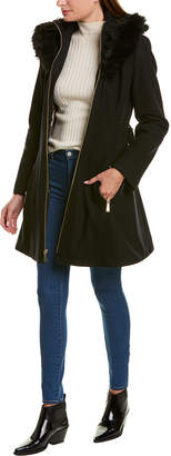 Laundry by Shelli Segal Fit-And-Flare Wool-Blend Coat