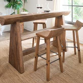 west elm Hewn Wood Bar + Counter Stools