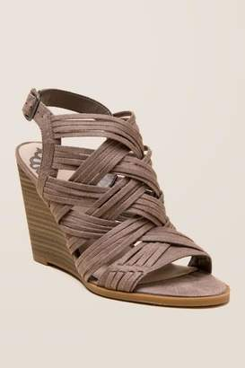 Fergalicious Howdy Distressed Wedge - Taupe