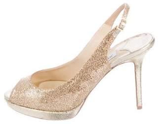 Jimmy Choo Glitter Slingback Sandals