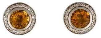 David Yurman Citrine & Diamond Cerise Earrings