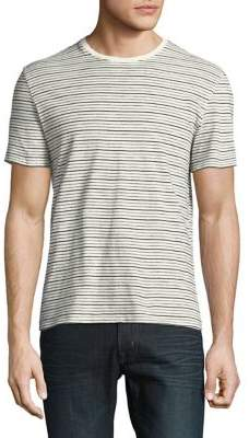 Black & Brown Black Brown Stripe Cotton Tee