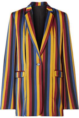 Rokh Striped Cotton And Wool-blend Jacquard Blazer