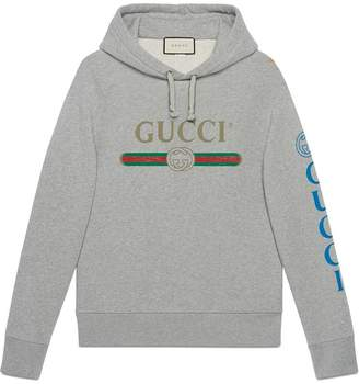 Gucci logo sweatshirt with dragon