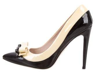Miu Miu Bowtie Patent Leather Pumps