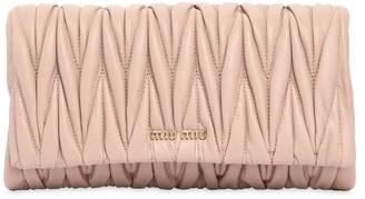 Miu Miu Quilted Leather Clutch