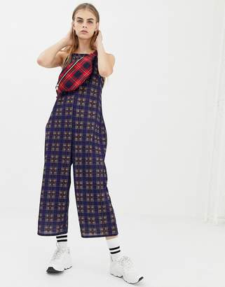 Daisy Street cami jumpsuit in vintage check