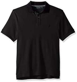 Nautica Men's Classic Fit Short Sleeve Polo Shirt Contrast Trim