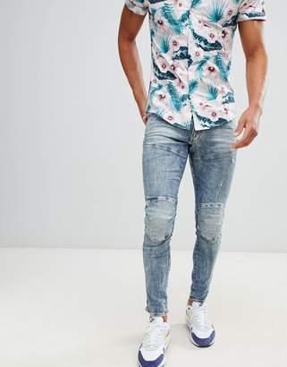 G Star G-Star 5620 3d skinny distressed jeans