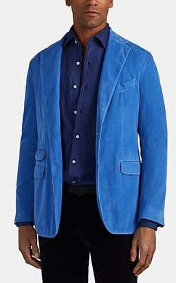 Massimo Alba Men's Cotton Corduroy Three-Button Sportcoat - Lt. Blue