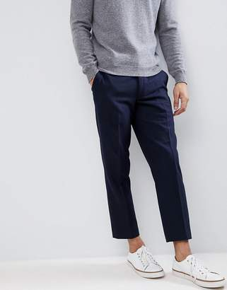 Farah Cropped Pants in Wool Mix Slim Fit