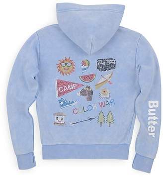 Butter Shoes Girls' Camp Appliqué Hoodie - Big Kid