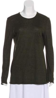 Alexander Wang Crew Neck Long Sleeve Top