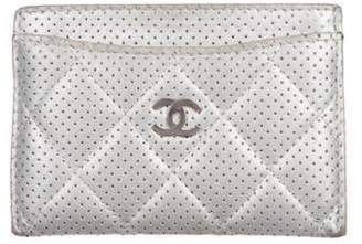Chanel CC Perforated Card Holder