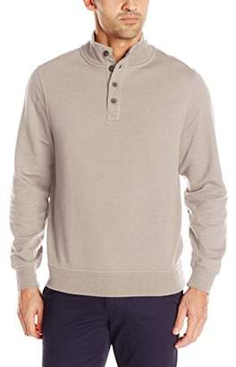 Dockers Button Mock Soft Acrylic Sweater