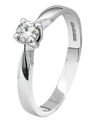 Fashion World Moissanite 9 Carat Gold 1/4 Carat Ring