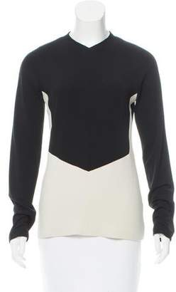 Narciso Rodriguez Two-Tone Long Sleeve Top w/ Tags