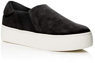 Vince Women's Warren Suede Platform Slip-On Sneakers