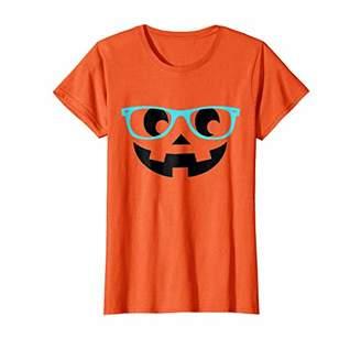 Womens Jack O Lantern Pumpkin Face Halloween T Shirt for Women