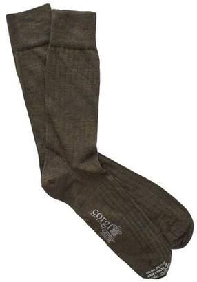 Corgi Solid Olive Dress Socks