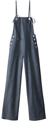 49848fc28c La Redoute COLLECTIONS Striped Denim Wide Leg Dungarees with Shoestring  Straps