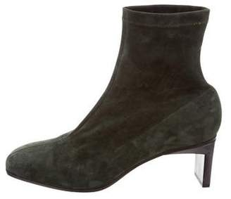3.1 Phillip Lim Suede Square-Toe Ankle Boots