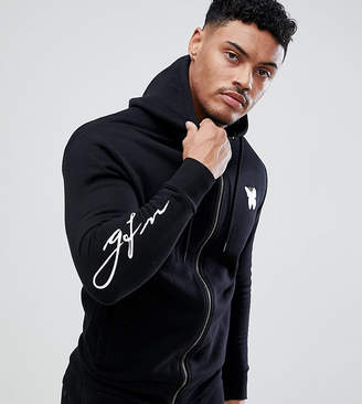 Asos Good For Nothing muscle hoodie in black with script logo exclusive to