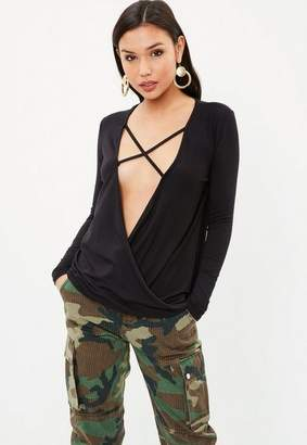 Missguided Cross Front Tunic