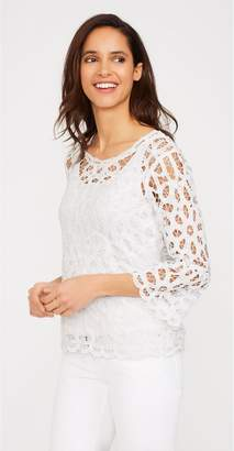 J.Mclaughlin Cosette Lace Blouse