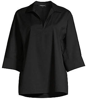 Lafayette 148 New York Women's Nicole Stretch Cotton Tunic Blouse