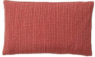 Pottery Barn Honeycomb Lumbar Pillow Cover - Washed Red