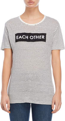 Each X Other Logo Print Stripe Tee