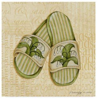 "Robin Betterley 'Lily Sandals' Canvas Art - 14"" x 14"""