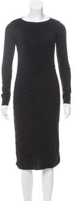 Valentino Pleated Wool Dress w/ Tags